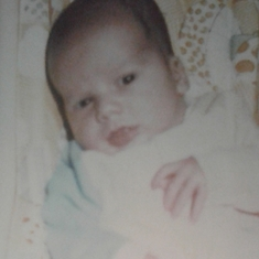 this is you John ( at theyoung age of 1 month ) how sweet an adorable you are