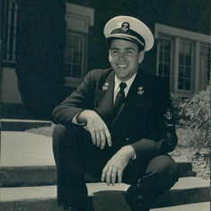 Navy Midshipman at Oregon State College, 1954