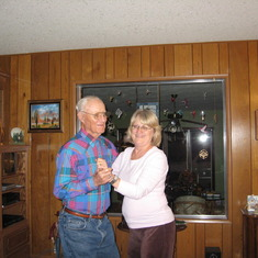 Dad and Deb dancing Oct 2009
