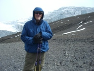 Hiking to summit of Aconcagua, Argentina - highest peak in South America