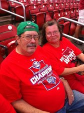 Dad and Mom at the Phillies game!