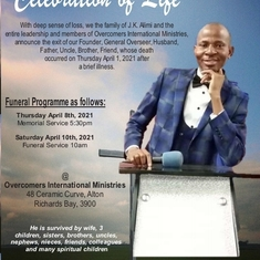 Celebration of Life and times of Pastor John Kolawole Alimi