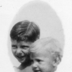 John (blonde) and brother Daniel
