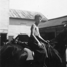 One of John's favorite pastimes was horseback riding.  He taught me (Sharon) to ride and I am forever grateful.  John, David, and I  had some great family vacations centered around riding.