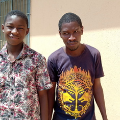 Olumide, Dad's son and Laolu, Dad's nephew