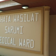 Ward where Dad spent his last days... Built by the Sarumi Family in memory of their Matriach. Wesley Guild Hospital Ilesha