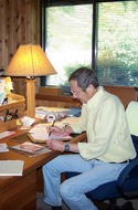 in his office at Foundation Place