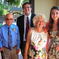Maddi & Sean with Grandma & Grandpa 2010