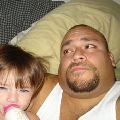 Azlynn and her daddy