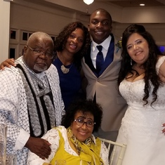 Joe, Monica, Xavier, Diana and Maggie at eldest Grandson's wedding. 10.22.17