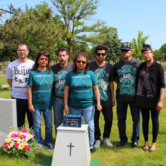 Joe's resting place on Friday, June 3rd, 2016, surrounded by his family.