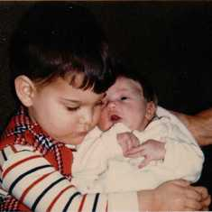 Joey and Baby Michol 1-19-1972