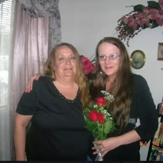 My mommy and i on my wedding day