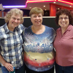 Judi, Pam and Jennie bowling team