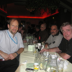 Julian and the late Jonathan Tucker at dinner during a seminar in Brighton in January 2007.