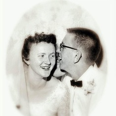 Larry's first whisper to her nearly 60 years ago.