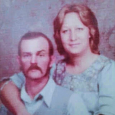 My beautiful mom with. My dad