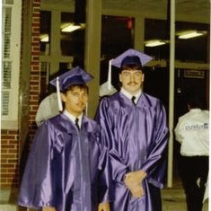 keith and jeremy at graduation