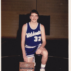 Keith in high school basketball