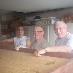 Tony, Dad and Walter building the boys bunk beds!