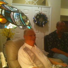 Dad @ our last Christmas party with him.  We had it 4 days early.  It was wonderful!