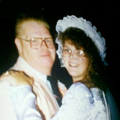 Dad and I @ my wedding reception. August 1992