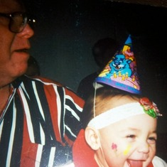 Dad with Shiree' @ her first birthday  March 2001.