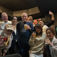 Tokyo hashers are at Love Peace and Soul Pub  celebrating King Kok memories