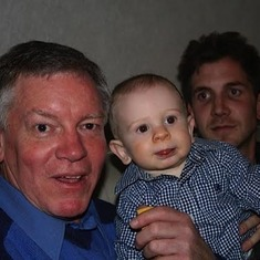Grandpa with Noaln and Neil