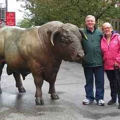 with Beth and a Buffalo