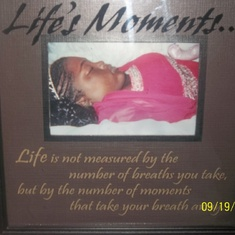 My beautiful daughter layed to rest.
