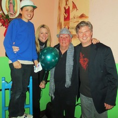 Larry with Mark Weaver and family