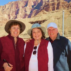 Leigh, Anita and Larry at the bottom of the Grand Canyon