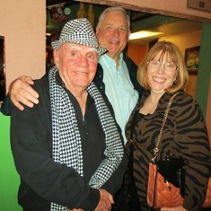 Larry's 80th birthday party with Ron and Pat Schwarz