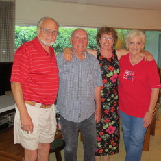 Larry and Leigh on the fourth of July 2012 with Bill and Karen Maloof
