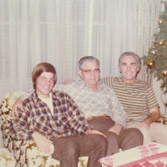 Larry with his dad Roy, and his son Dan