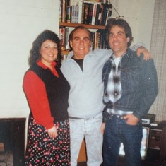 Larry with his daughter Anita and son Dan