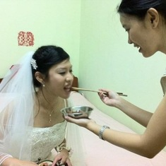 Honoured to serve the happy and beautiful bride on her wedding day (2011)