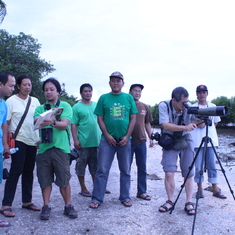 Birdwatching in Tibsoc-San Juan Wetlands with communities, local government units and PhilBio