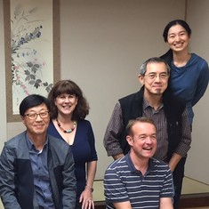 Lew in Japan with colleagues from WWN, RNJ and KWNN, 2017