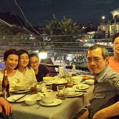 dinner at Cambodia during Pre COP meeting 2014