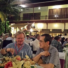 Party at Pre COP meeting in Cambodia 2014