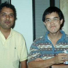 Lew and Ajmal Khan at the 1994 Mai Po workshop