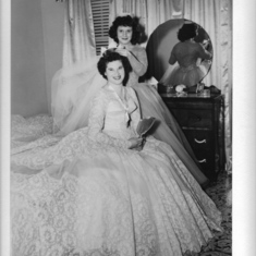 My Godmother Linda on my parents wedding day