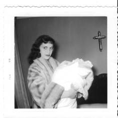My Godmother Linda - my baptism day