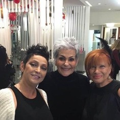 Best friends from LCRT salon over 40 years, Donna,Lois & Pat. Photo by Pat Greenberg