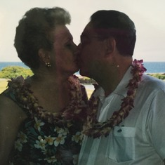 Mom and Dad/Eydie and Lou in Hawaii (Big Island). 1998