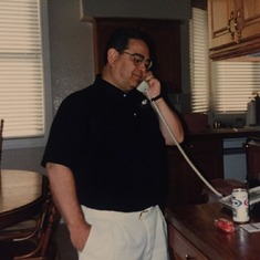 Lou/Dad in the kitchen at he and Eydie's home in Lakewood, Colorado - 1998
