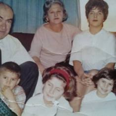 Top Row..Todd (Papa) Blanche(Nonnie)Lucy(Mom)