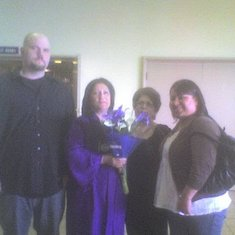Graduation Day Kaplan College (with honors) Eddie, Pam, Lucy(Mom)and Karla Fun Day!!